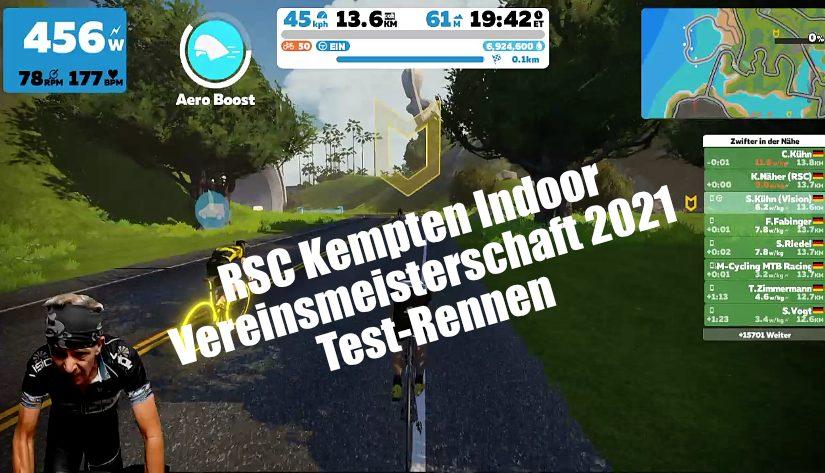 RSC Kempten Indoor Vereinsmeisterschaft 2021 – Test-Rennen